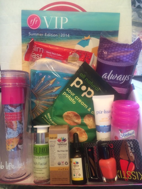 Fabfitfun VIP Summer 2014 Box Review!  The Subscriptionist