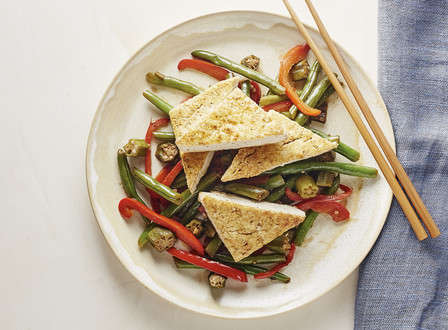 menu_small_Crispy_Tofu_with_Sweet_and_Spicy_Okra_and_Green_Beans_THUMB