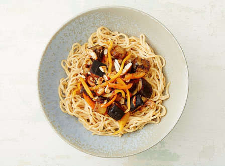 menu_small_Cold_Peanut_Noodles_with_Maple_Cayenne_Cashews_and__Sambal-Glazed_Eggplant_and_Peppers_THUMB