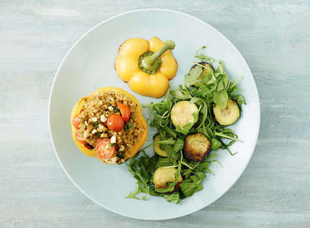 menu_small_Israeli_Couscous__Pistachio__and_Feta-Stuffed_Bell_Peppers_with_Zucchini_and_Wilted_Arugula_THUMB