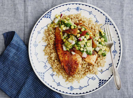 menu_small_Pan-Seared_Spice-Crusted_Fish_with_Sweet_Corn_Relish_and_Quinoa_THUMB